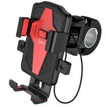 Держатель для телефона на самокат, велосипед, мопед, мотоцикл Hoco CA73 - Черный/Красный