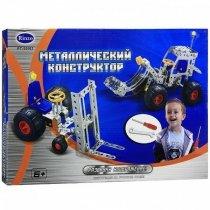 Детский металлический конструктор экскаватор и подъемник 132 детали