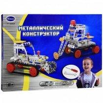 Детский металлический конструктор Рабочие машины 206 детали