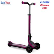 Детский трёхколёсный самокат Globber Ultimum Розовый