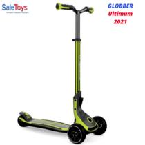 Детский трёхколёсный самокат Globber Ultimum Зеленый