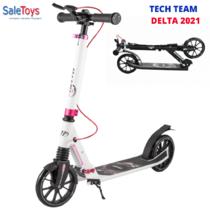 Двухколёсный самокат Tech Team DELTA 2021 Бело-розовый