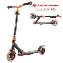 Двухколёсный самокат Tech Team TT Jogger 145 2020 Чёрно-оранжевый