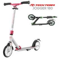 Двухколёсный самокат Tech Team TT Jogger 180 2020 Бело-розовый