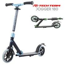 Двухколёсный самокат Tech Team TT Jogger 180 2020 Черно-голубой