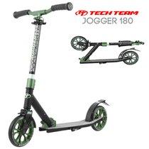 Двухколёсный самокат Tech Team TT Jogger 180 2020 Чёрно-зелёный