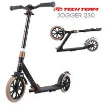 Двухколёсный самокат Tech Team TT Jogger 230 2020 Чёрно-коричневый