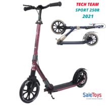 Городской самокат Tech Team Sport 250R 2021 Бордовый