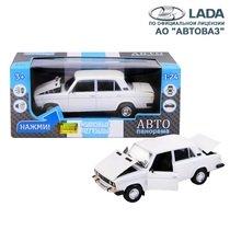 """Модель машины """"Автопанорама"""" 1:22 ВАЗ 2106 Белый (свет, звук)"""