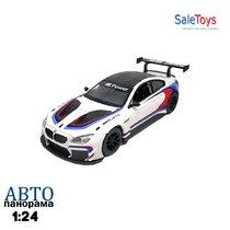 """Модель машины """"Автопанорама"""" 1:24 BMW M6 GT3 (свет, звук)"""