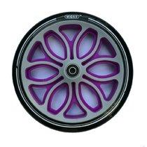 Колесо для самоката 200 мм в комплекте с подшипниками ABEC 9 черно-фиолетовый