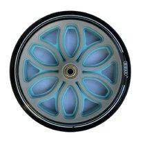 Колесо для самоката 200 мм в комплекте с подшипниками ABEC 9 черно-голубой