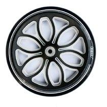 Колесо для самоката 200 мм в комплекте с подшипниками ABEC 9 черно-серый