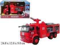 Грузовик инерционный пожарная машина Автопарк КАМАЗ свет+звук арт. 9624