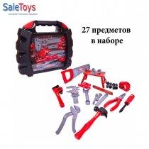 Набор инструментов в чемодане ПОМОГАЮ ПАПЕ 27 предметов