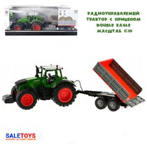 Радиоуправляемый сельскохозяйственный трактор с прицепом RC Car Double Eagle масштаб 1:16