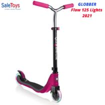 Самокат Globber Flow 125 Lights Фиолетовый