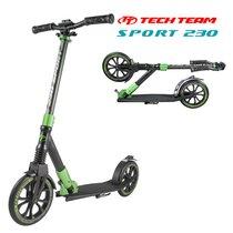 Городской самокат Tech Team Sport 230 мм 2019 Чёрно-зелёный