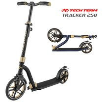 Двухколёсный самокат Tech Team Tracker 250 мм 2020 Чёрно-золотой