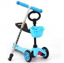 Детский самокат трехколесный с сиденьем 3в1 21st scooter