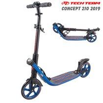 Городской самокат Tech Team TT Concept 210 мм 2019 складной Черно-синий